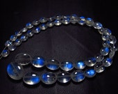 Awesome - AAAA - High Quality So Gorgeous - Rainbow MOONSTONE - Smooth Oval Briolett Blue Fire size - 4x5 - 9x11 mm - 51 pcs