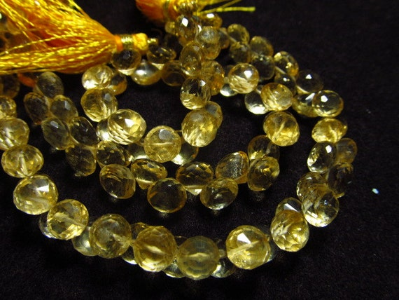 8 Inches So Gorgeous AAA high Quality Golden CITRINE - super Sparkle Micro Faceted Onion Briolett Huge SIZE - 6 mm Approx