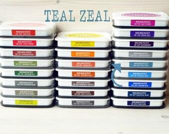 Large MEMENTO  raised dye ink pad TEAL ZEAL