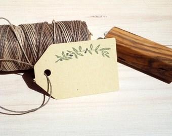 Dainty Olive Branch Olive Wood Stamp