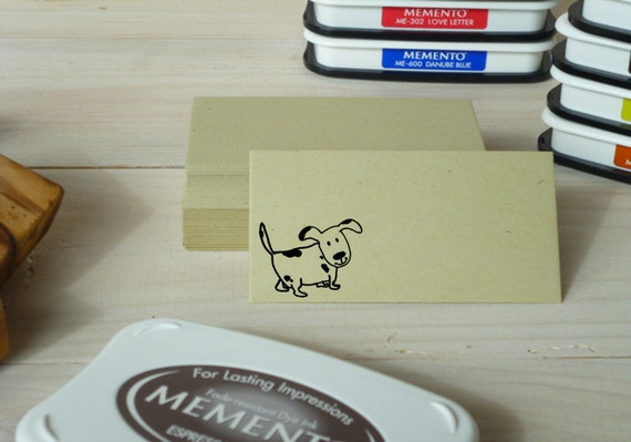 Cute Pup Olive Wood Stamp