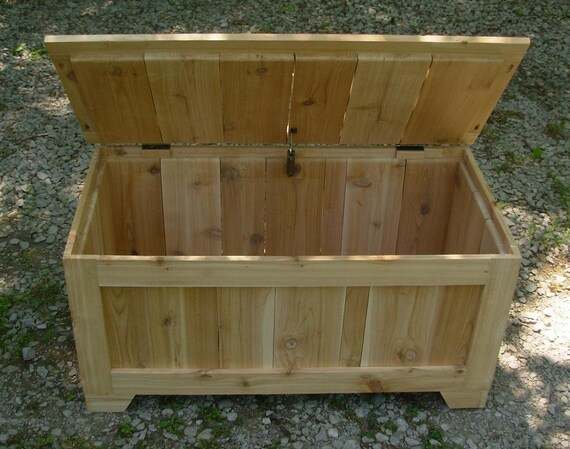 Unfinished Rustic Reclaimed Cedar Toy Box Blanket By