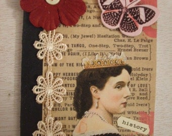 Vintage Inspired Queen Altered Composition Book