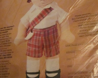 Cambpells Kid - Vintage KIT - Boy Doll with clothes - You create - Cute little boy frp, 1981