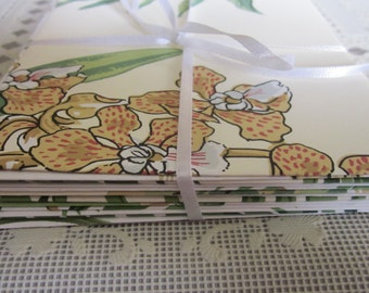 Envelopes Handmade - Foliage - some with flowers - Upcycled - Labels included for addressing - Envelope Gum to moisten