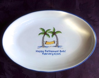 Guest Book Alternative Retirement signature platter for retirement retirement gift
