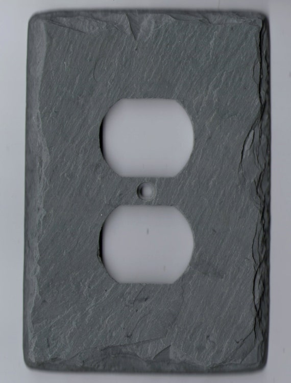 Slate Switch Plate Outlet Cover Unique Gift By Vermontslateart