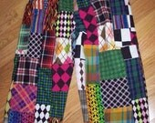 Wild and Crazy Multi Madras Fabrics Golf Knickers, Each pair is unique and one of a kind, Custom made to order