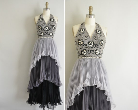 r e s e r v e d...1950s 50s dress / vintage 1950s designer couture party gown / Belle Of The Ball