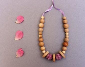 Discs Lavender Nursing Necklace / Teething Toy / Teething Necklace Made In Israel