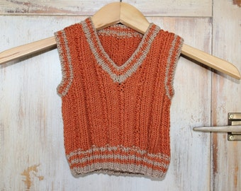 KNITTING PATTERN- Baby Vest knitting pattern PDF file