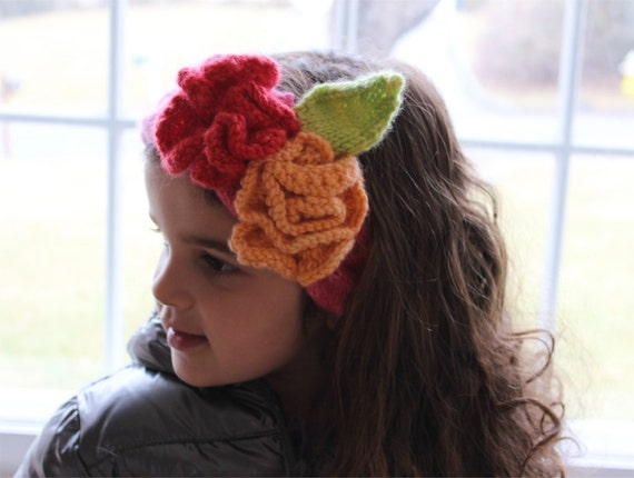 Knitted Headband Patterns With Flower : Knitting Pattern Flower Headband knitting by theknittingniche