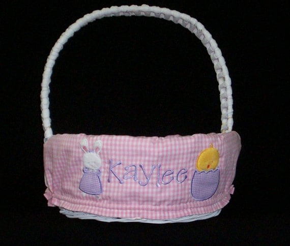 Personalized easter basket liner custom made for your child - Custom made easter baskets ...