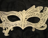 Fairy Eyes Lace Mask in White