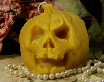 Beeswax Demon Pumpkin Candle Small Choice Of Color