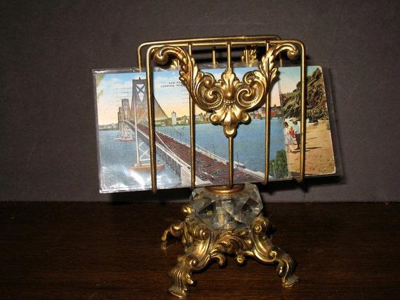 Vintage letter holder desk accessory by naughtnew on etsy for Vintage letter holder desk