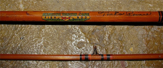 Vintage Genuine Tonkin Cane H I Bamboo Fly Rod By