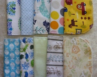 15 Gender Neutral Mixed Print, Cloth Napkins, Kids Lunch Napkins, Back To School