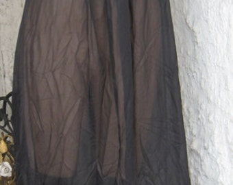 Vintage Hollywood Chic Black Sheer Long  Never Worn Or Washed.NightGown Size Small