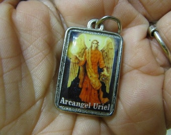 Silver RARE Archangel URIEL Medal Angel of Peace, Resolve problems, Anxiety, Danger  pendant amulet for necklace bracelet