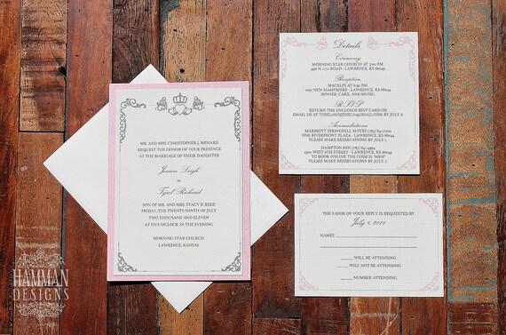 Items similar to irish claddagh symbol wedding invitation for Etsy wedding invitations ireland