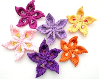 PDF Knit Flower Pattern - Sakura Flower