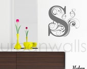 Vinyl Wall Sticker Decal Art - Swirly Letters