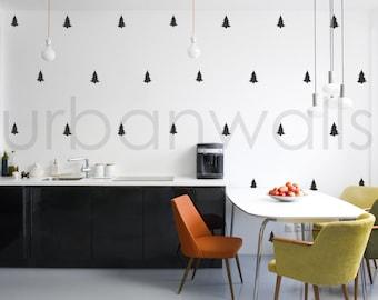Vinyl Wall Sticker Decal Art - Pine Tree Pattern