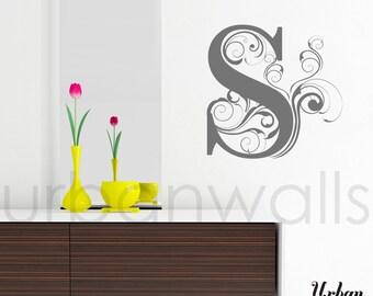 Vinyl Wall Sticker Decal Art - Swirly Letters