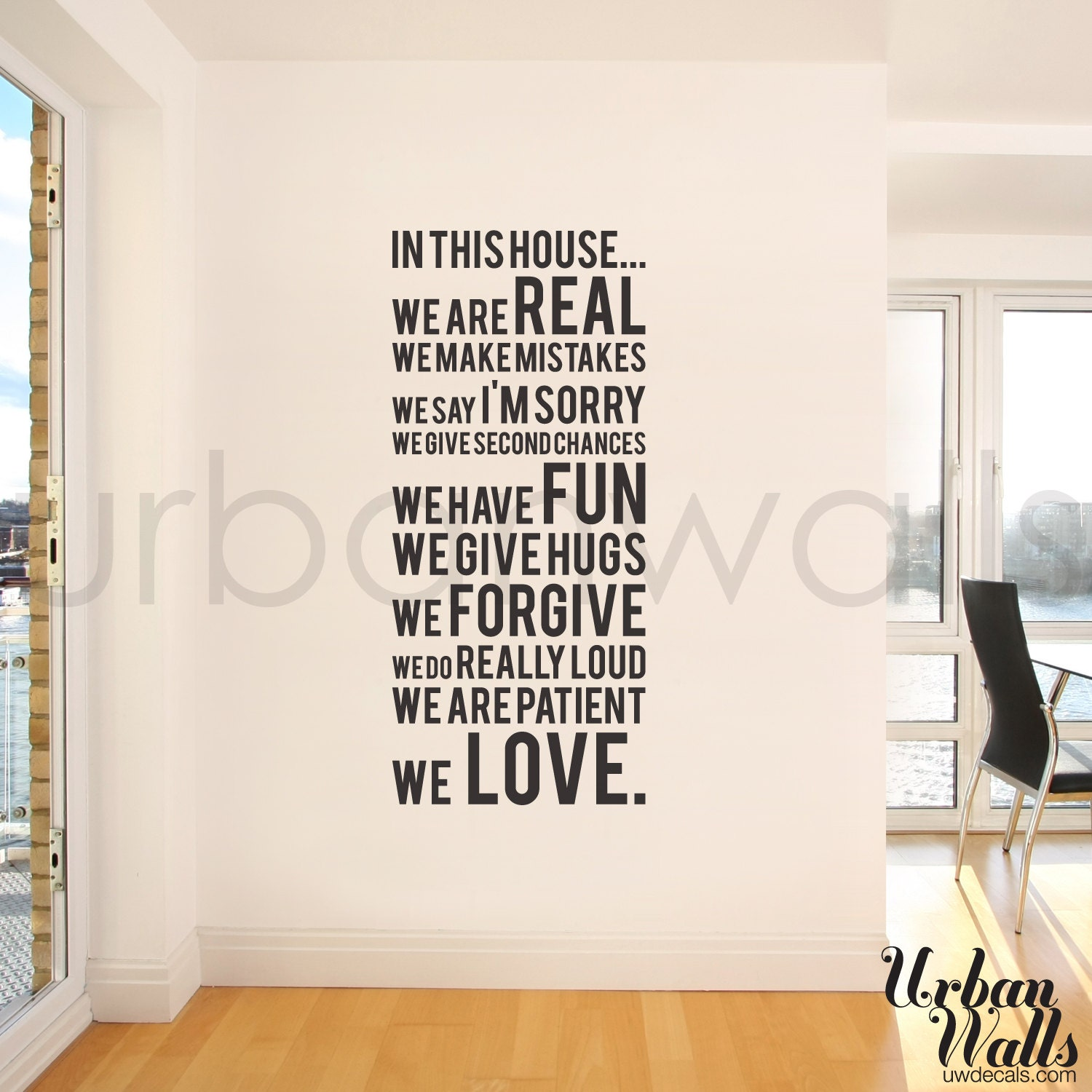 Vinyl wall sticker decal in this house we do zoom amipublicfo Choice Image