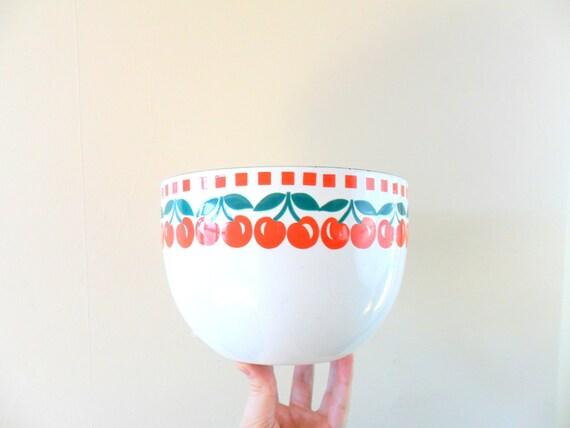 vintage large modern hackman kaj franck white enamel cherry bowl
