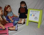 American Girl Desk Dry Erase/Chalkboard Set 18 inch doll