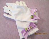 White Easter gloves for girls - Gloves for smaller girls - Easter gloves - white gloves - tea party gloves