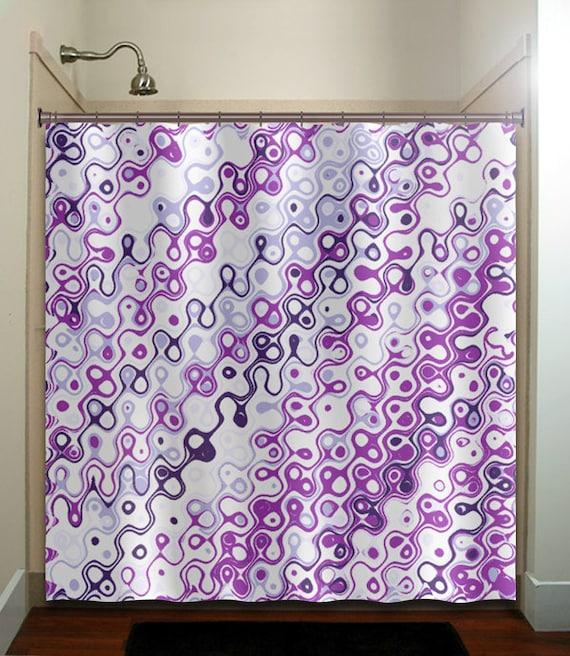 eggplant purple violet aubergine shower curtain bathroom decor