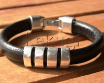 mens fashion, mens bracelets, mens jewelry, leather bracelets, mens silver bracelets, etsy handmade jewelry, etsy bracelets, jewelry