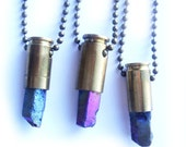RESERVED Titanium Crystal Bullet Necklace