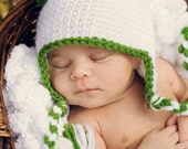 Shamrock Baby Hat / Baby Girl St Patrick Day Hat / Irish Baby Hat / Irish Photo Prop / St Patrick Photo Prop