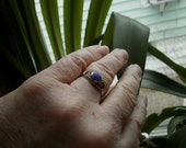 Sterling Silver and Lapis Ring Size 8.5 FREE SHIPPING