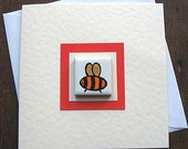 Bee Birthday Card, Bee Card, Greeting Card, Blank Card, Thankyou Card, Magnet Card