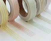 Sweet Mix Stripe Adhesive Fabric Tape (0.6in)