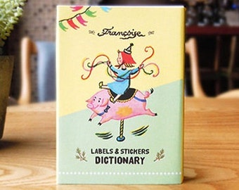 Francoise Illustration Label & Stickers Dictionary - 90 sheets (3.5 x 4.8in)
