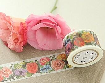 Flower Garden Adhesive Masking Tape (1.2in)