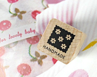 Square Lace Handmade Stamp (0.75 x 0.75in)