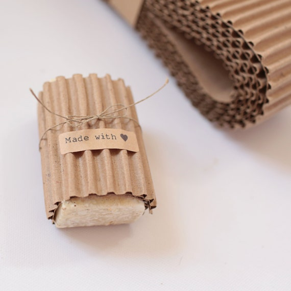 KRAFT Corrugated Wrap-  12 Yards x 3 inches wide