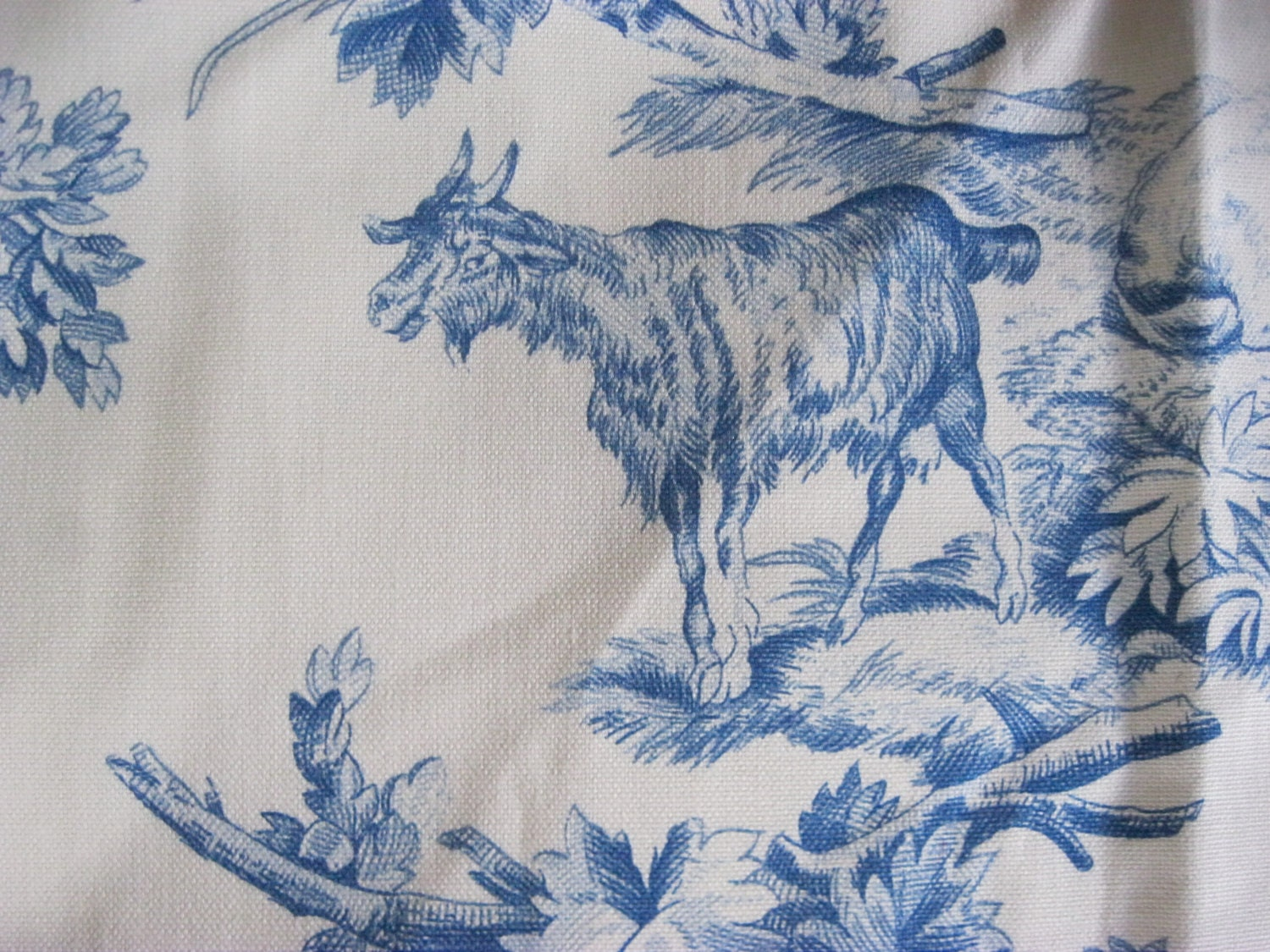 Toile Blue And White Fabric French Country Life