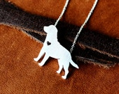 Labrador retriever, sterling silver necklace, chain included, handmade dog jewelry, pendant, family pet,