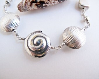 Silver Nuggets and a Swirl Bracelet