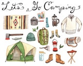 Let's Go Camping Print 8.5x11
