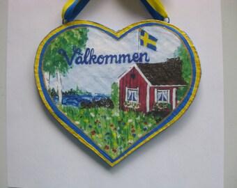 SWEDISH WELCOME SIGN