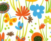 Robert Kaufman Fabric, Flirty Flowers in Spring by Robin Zingone